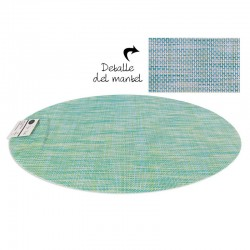 INDIVIDUAL PVC OVAL VERDE...