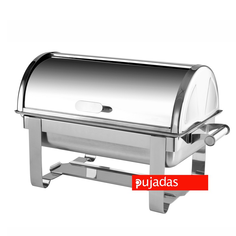 CHAFING DISH CON TAPA ROLL TOP 650 x 380 x 390 MM 9.5 L