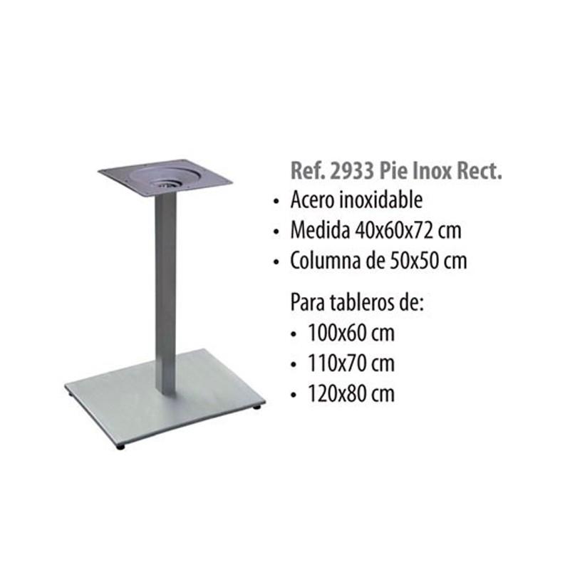 BASE  ALUMINIO  COLUMNA 60X60   40X60X72