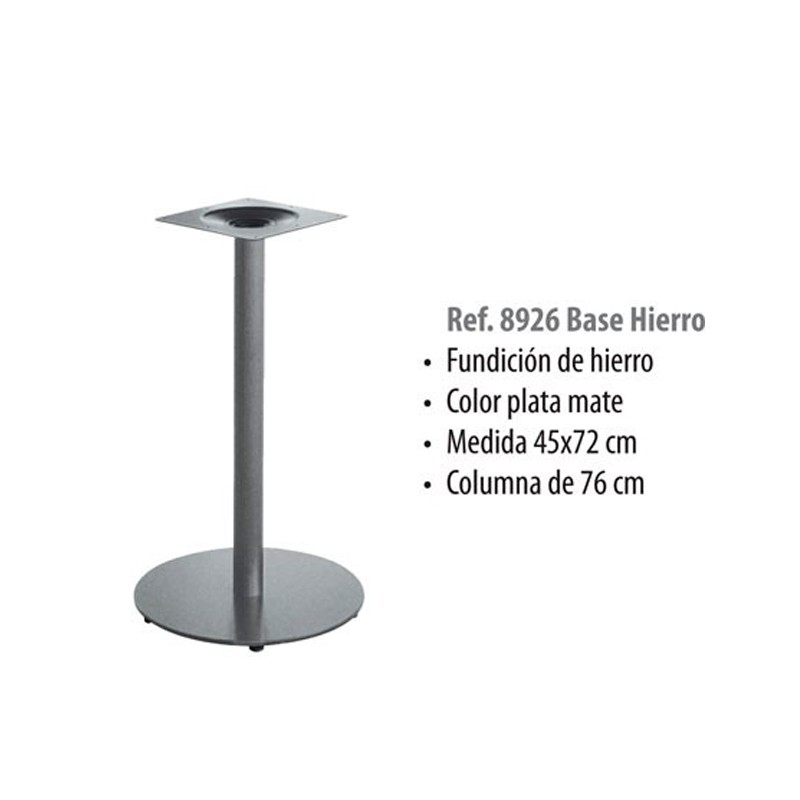 BASE HIERRO FUNDIDO MATE  GRIS COLUMNA 76. 45X72cm