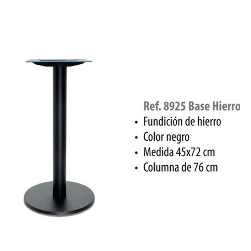 BASE    HIERRO  FUNDIDO  NEGRO  COLUMNA  76   45X72