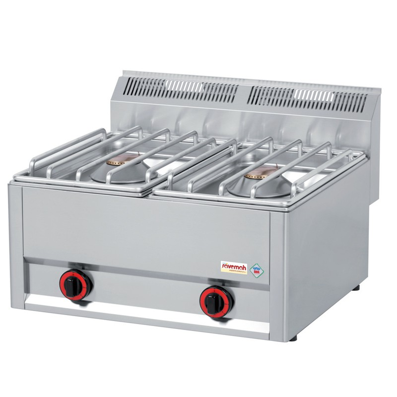 Cocinas serie 600/ cocinas a gas 2 Quemadores 33kg
