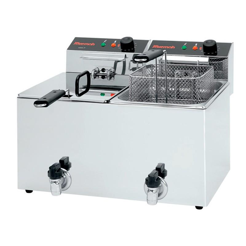 Freidoras eléctricas c/grifo 2x3,5KW 530x415x345