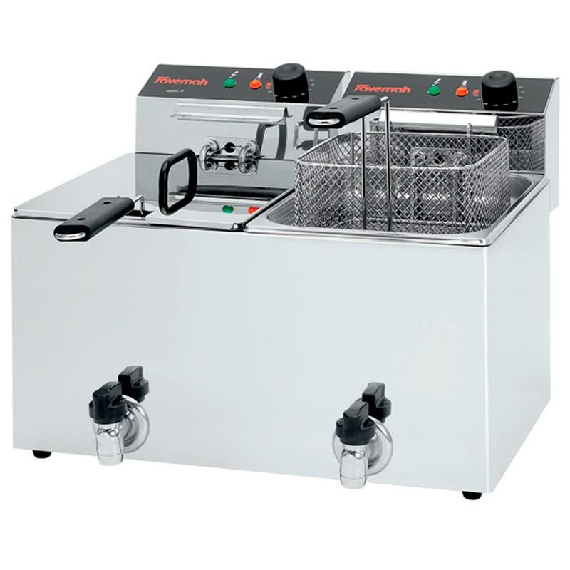 Freidoras eléctricas c/grifo 2x7,5KW 650x495x345