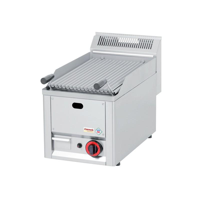 Cocinas serie 600 barbacoas a gas con piedra volcánica 330x600x290 6,5kw 25kg