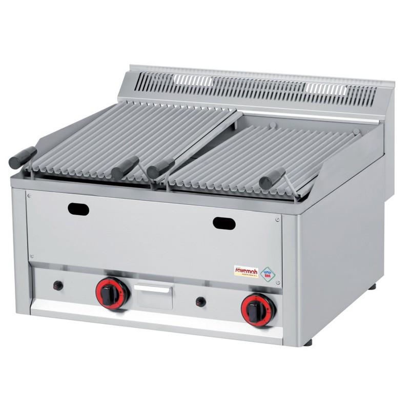 Cocinas serie 600 barbacoas a gas con piedra volcánica 660x600x290 13kw 49kg