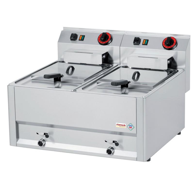 Cocinas serie 600 freidoras eléctricas de apoyo 660x600x290 2x6kw 18kg