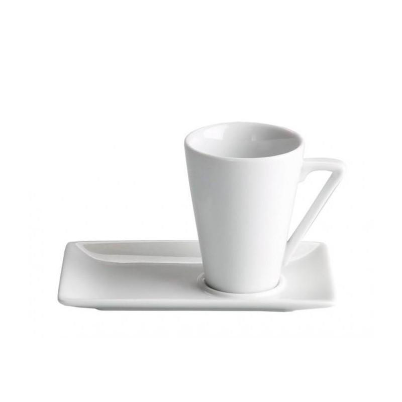 TAZA CAFE 6 CL ø5X6,5 CM C/ PLATO 12,5X8X1 CM _MING