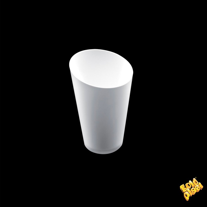 "SET DE 25  VASO CÓNICO ALTO"" PS BLANCO           20u/c"""