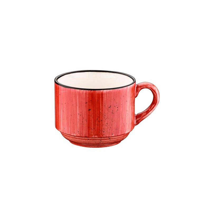 TAZA CAPUCCINO 18CL PASSION GOURMET RED