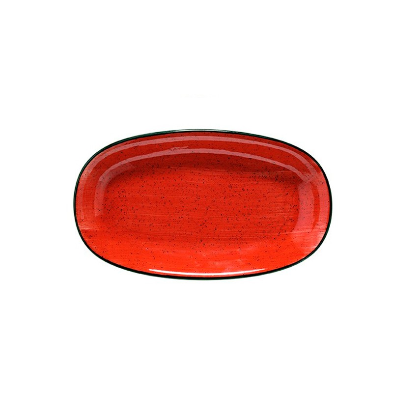 FUENTE OVAL 24X14,2CM PASSION RED