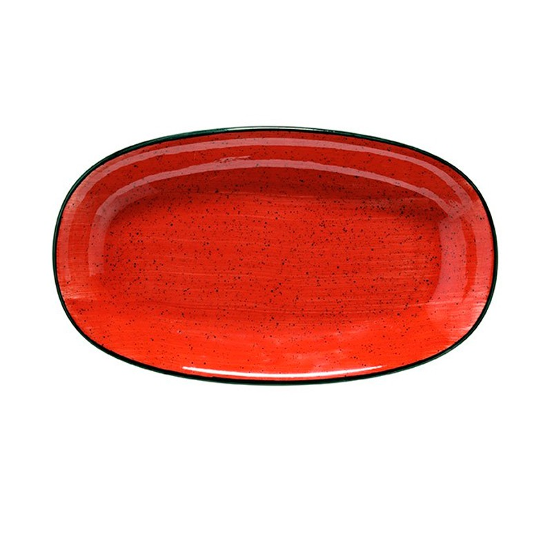 FUENTE OVAL 34X19,5CM  PASSION RED