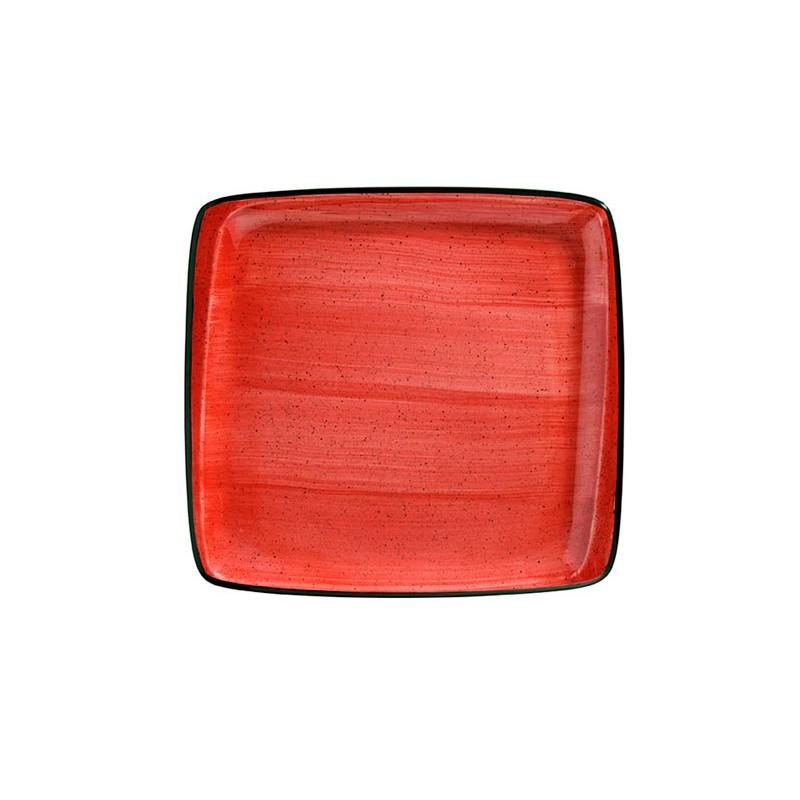 PLATO POSTRE 22 X 20CM PASSION MOOVE RED