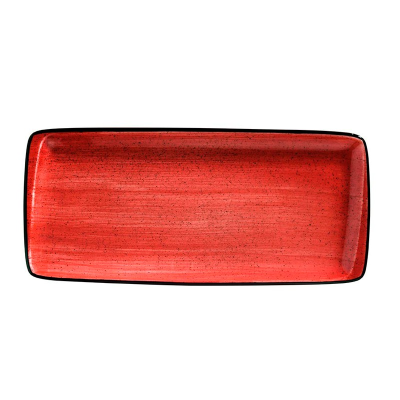 BANDEJA RECTANGULAR 34 X 15 CM PASSION MOOVE  RED