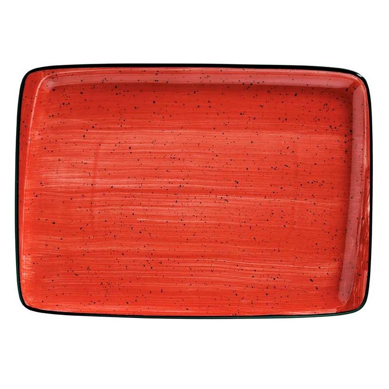 BANDEJA RECTANGULAR 36 X25 CM PASSION MOOVE RED
