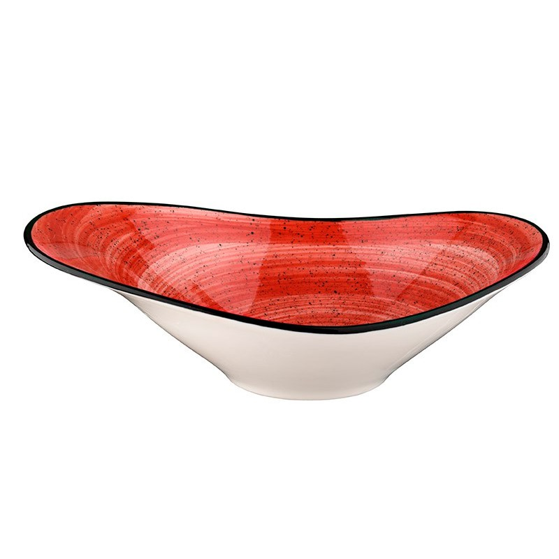 BOWL OVAL 27X18CM PASSION RED   6u/c