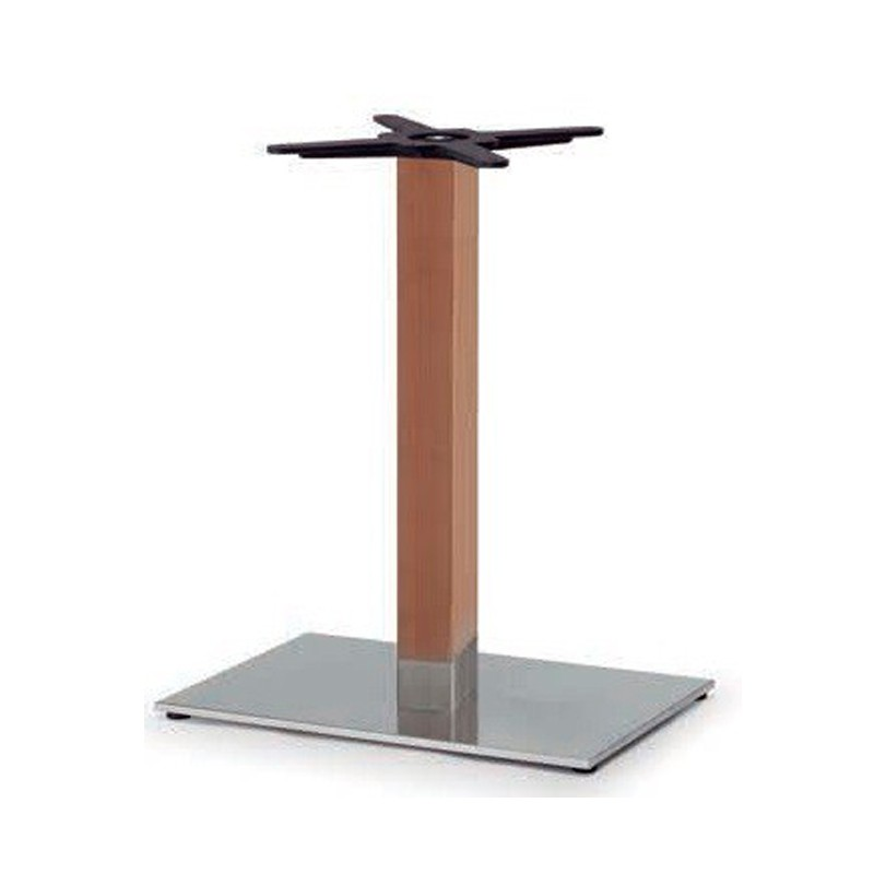 BASE INOX COLUMNA  EN  HAYA NATURAL   60X40X73