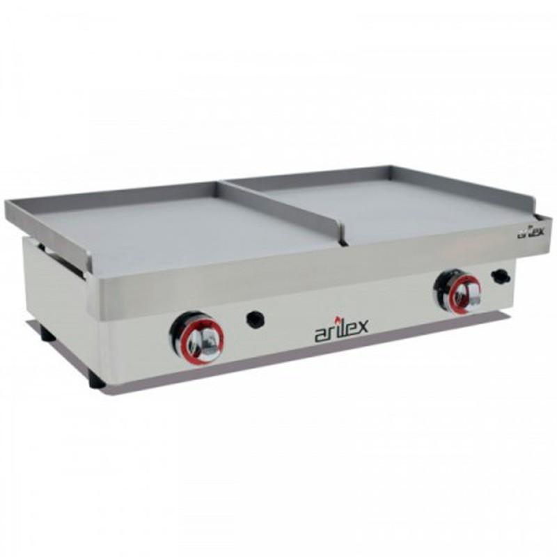 Plancha A Gas  Serie DUO (40 Laminado + 40 Laminado) Con Medidas 810x457x265h Mm