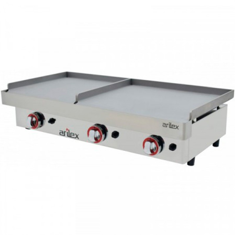 Plancha A Gas Serie DUO (60 Laminado + 60 Laminado) Con Medidas 1210x457x265h Mm
