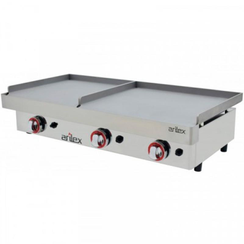 Plancha A Gas Serie DUO (80 Laminado + 40 Laminado) Con Medidas Con Medidas 1210x457x265h Mm