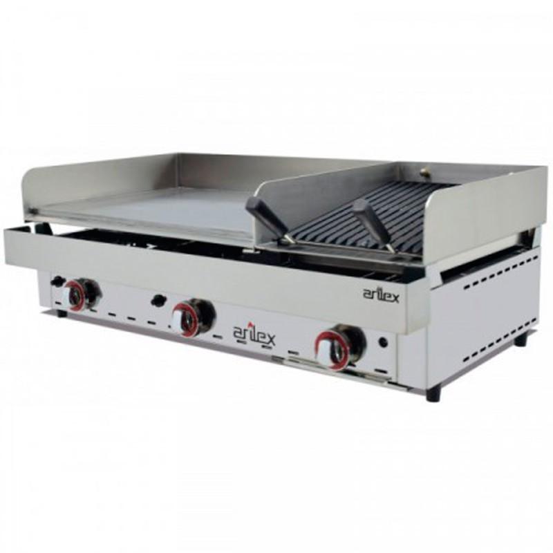 Frytops A Gas 67 Cm Acero Rectificado De 15 Mm + Barbacoa A Gas 35 Cm Con Medidas 1005x590x345h Mm