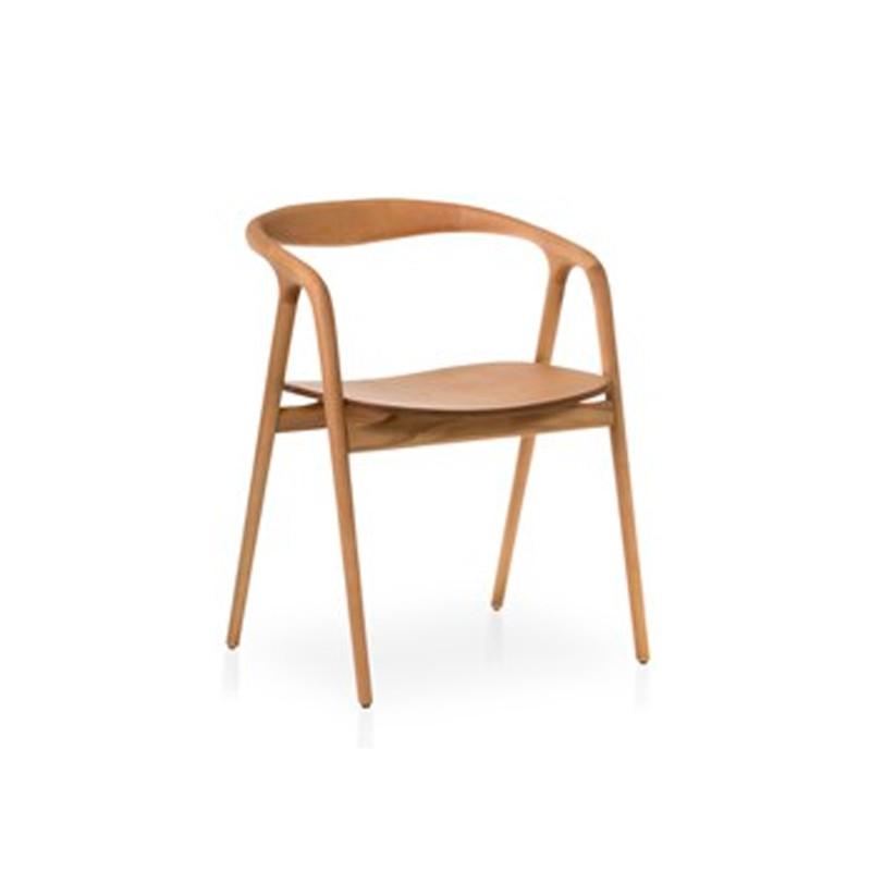Sillón Ref: 7900 Respaldo y asiento tapizado. Haya77X56X57 cm Lacado