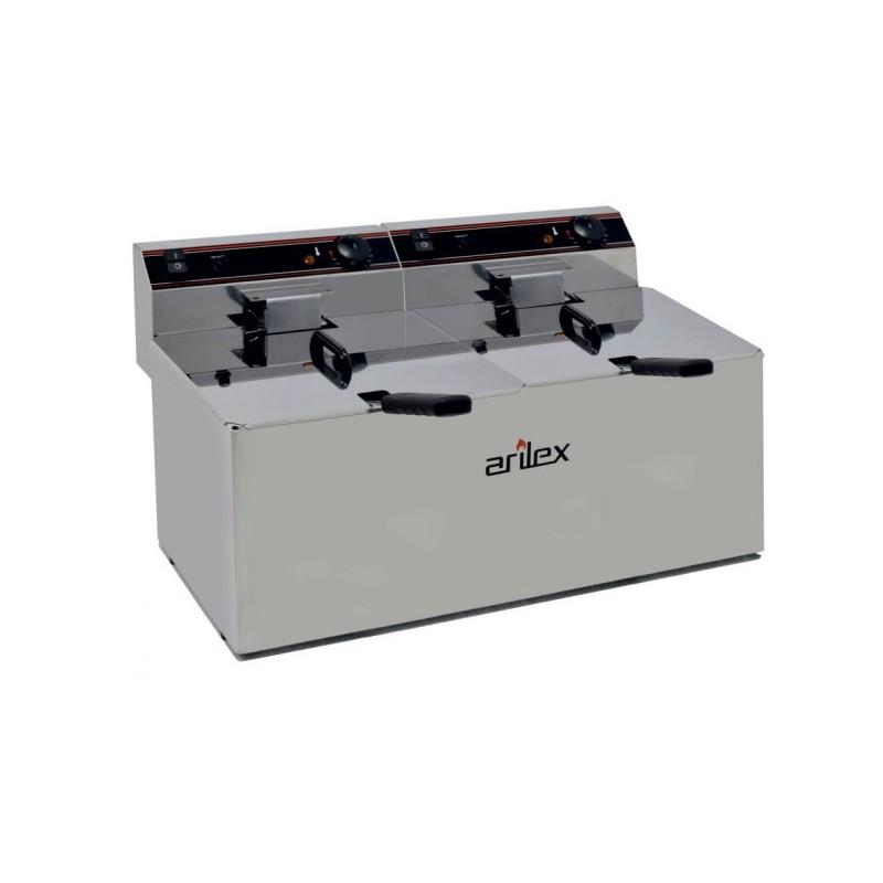 Freidora Eléctrica EVOLUTION Sin Grifo Capacidad 12+12 Litros Con Potencia 4,5+4,5 Kw Monofásica Con Contactor