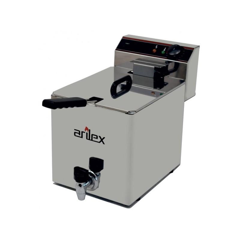 Freidora Eléctrica EVOLUTION Con Grifo Capacidad 10 Litros Con Potencia 3,5 Kw Monofásica Con Contactor