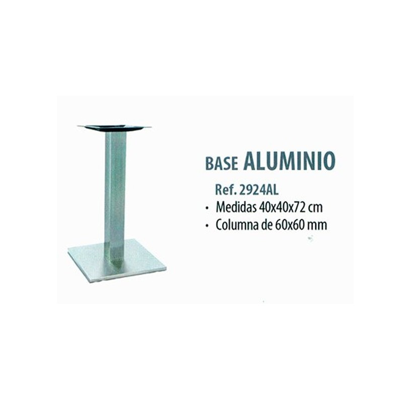 BASE  ALUMINIO  COLUMNA 60X60   40X40X72