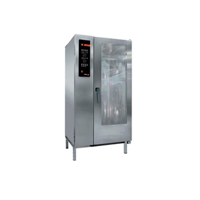 HORNO A GAS CON CARRO 20 GN-1/1 - 40 GN-1/2 KW GAS 36 KW ELECTR. 2,40 MM 929x964x1841