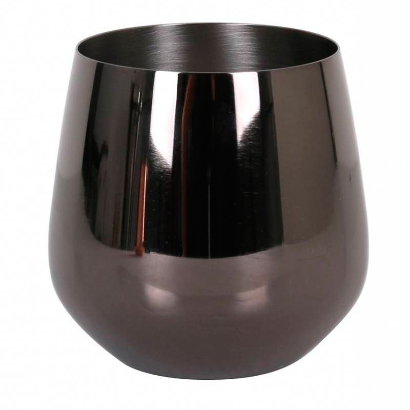 VASO LUXURY 55cl NEGRO INOX 18/10 24u/c