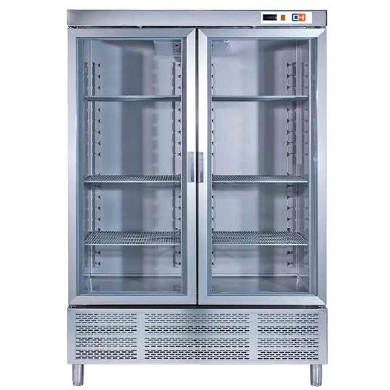 Armario Snack Refrigerado 2  Puertas de cristal Fondo 726 de 1388 x726 x2067h mm W 675