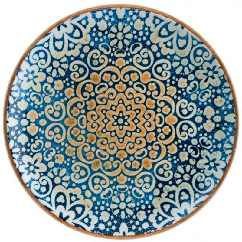 PLATO POSTRE GOURMET ALHAMBRA ø21x2,2cm           12u/c