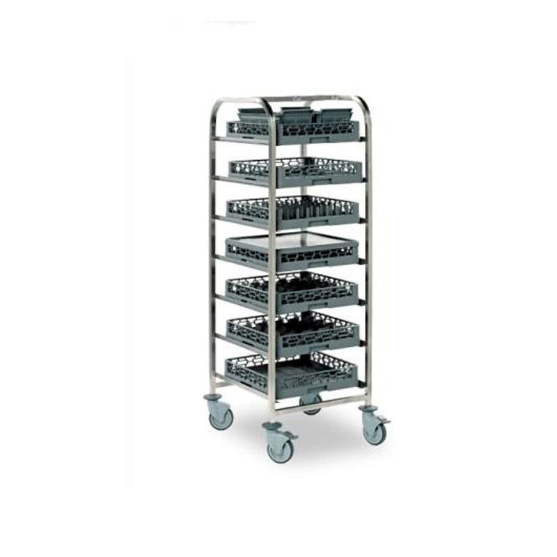 Carro para cestas de vajilla 625x637x1720 (7 pares de guías)