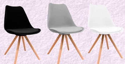 Silla estilo vintage con asiento de polipropileno. | CBB Hostelería