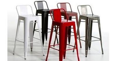 Taburete estilo vintage con respaldo. Amplia color de colores. | CBB Hostelería