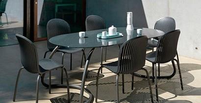Mesa con tablero cristal | CBB Hostelería