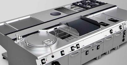 Cocinas horizontales industriales | CBB Hostelería