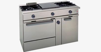 Cocina a gas con horno | CBB Hostelería