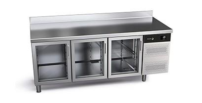 Mesas de refrigeración con puertas de cristal Concept 700 Gastronorm | CBB Hostelería