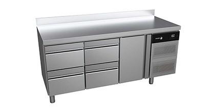 Mesas de refrigeración con cajones
