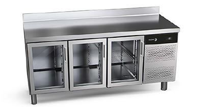 Mesas de refrigeración con puertas de cristal Concept 600 Snack | CBB Hostelería