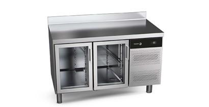 Mesas de refrigeración con puertas de cristal