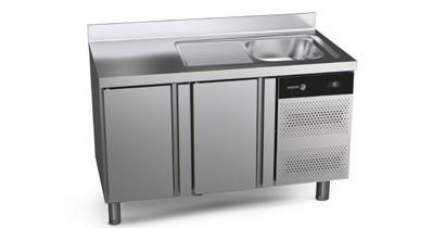Mesas de refrigeración con fregadero