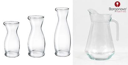 Jarras y decantadores de cristal | CBB Hostelería