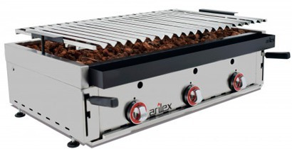 Parrilla elevable