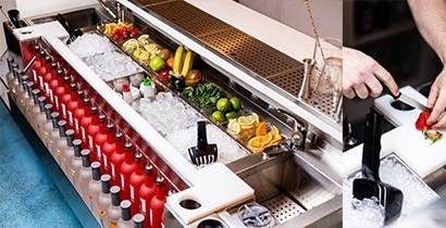 Estación de Coctelería | Mesa coctelera profesional | CBB Hostelería