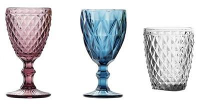 Copas de cristal Tallado | Cristalería Profesional para hostelería.