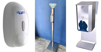 Dispensadores productos higiénicos y desinfectante | Cbb Hostelería productos higienizantes.